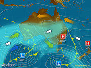 Synoptic weather map