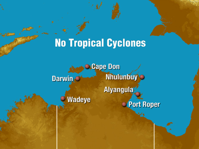 Northern Territory tropical cyclone Track Map