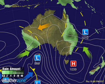 Synoptic Chart Australia - D1