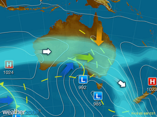 Synoptic outlook for Australia on Thu 21 Nov 2019
