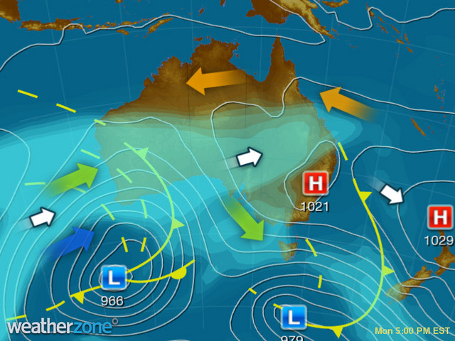 Synoptic outlook for Australia on Fri 25 Sep 2020