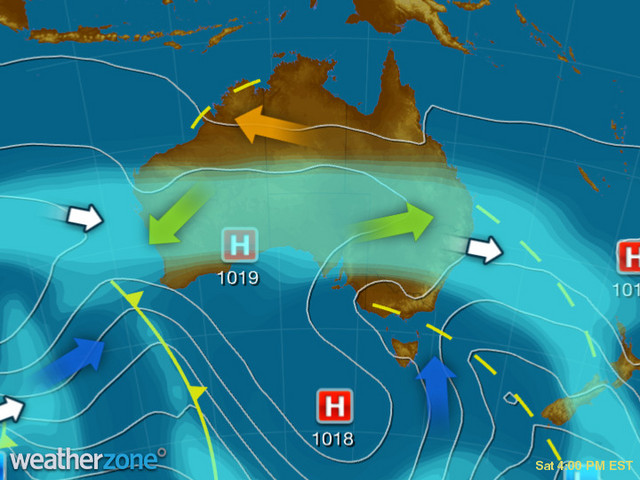 Synoptic outlook for Australia on Thu 19 Sep 2019