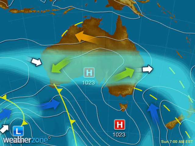 Synoptic outlook for Australia on Mon 17 Feb 2020