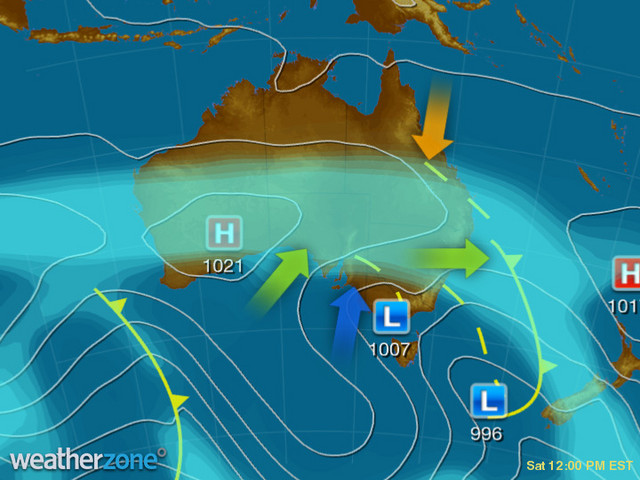 Synoptic outlook for Australia on Mon 06 Apr 2020