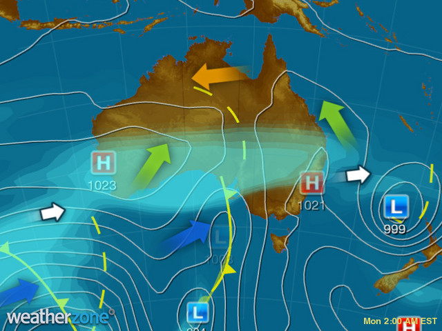 Synoptic outlook for Australia on Thu 06 May 2021