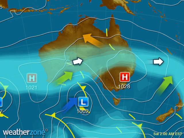 Synoptic outlook for Australia on Fri 06 Dec 2019