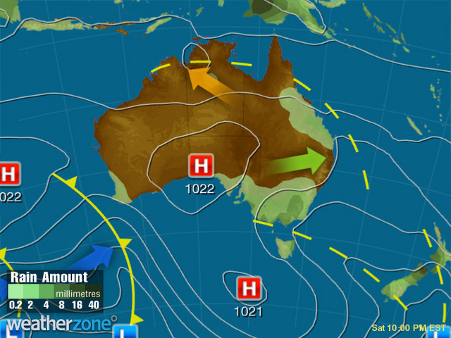 Synoptic outlook for Australia on Sun 27 Sep 2020