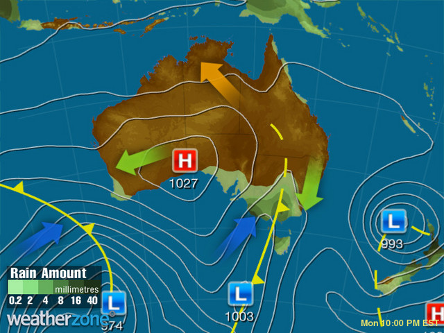 Synoptic outlook for Australia on Sat 08 May 2021