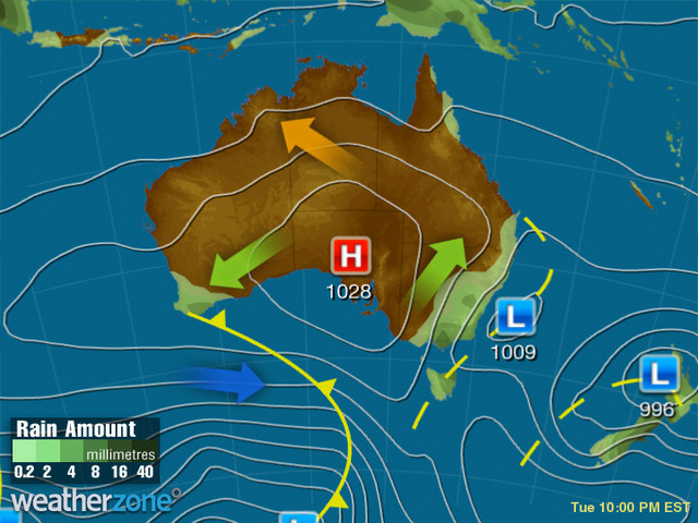 Synoptic outlook for Australia on Thu 04 Jun 2020