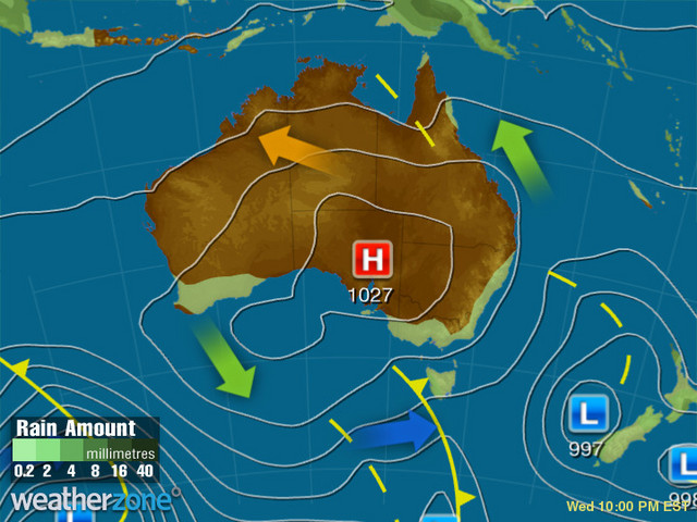 Synoptic outlook for Australia on Sat 08 Aug 2020
