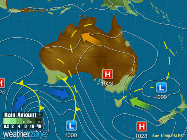 Synoptic outlook for Australia on Sat 29 Feb 2020