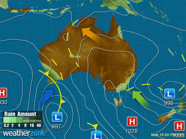 Synoptic outlook for Australia on Sun 09 Aug 2020