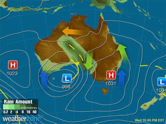 Synoptic outlook for Australia on Fri 13 Dec 2019