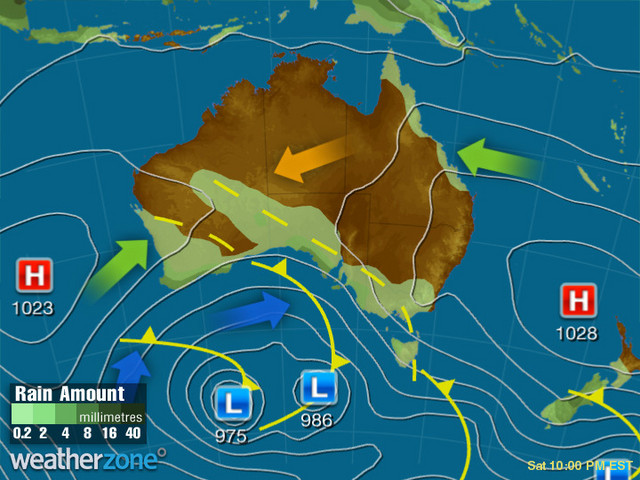 Synoptic outlook for Australia on Tue 26 Nov 2019