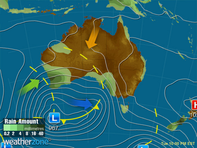Synoptic outlook for Australia on Sat 11 Apr 2020